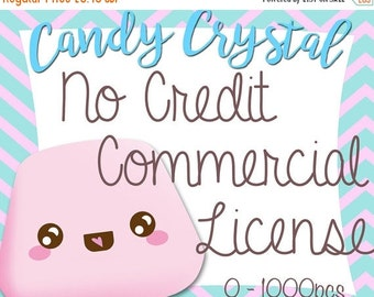 10% OFF SALE No Credit Required Commercial License for Candy Crystal Clip Art & Digital Papers
