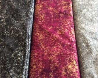 Northcott  Shimmer Black, Gray, Burgundy fabric  by the half yard
