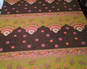 Whimsical floral rectangular tablecloth