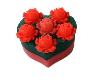 Valentine gift soap Gift soap Roses Heart  Gift soap heart Valentine heart soap Valentine gift Original gift Gift for her Gift heart soap