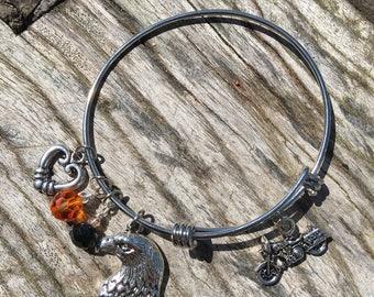 MOTORCYCLE Bracelet | Harley Davidson Bracelet | Stackable Bracelet | Motorcycle Wear | Motorcycle Jewelry | Motorcycle Bangle