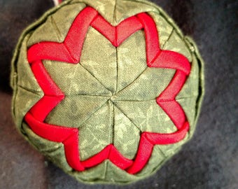 Quilted fabric ornament