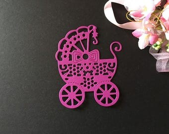 Craft Metal Baby Carriage Die Cutter Set Cardmaking Scrapbooking Newborn Baby Shower Baby Birthday Cutting Dies DC1281
