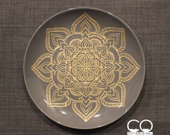 Mandala Plate - Boho Home Decor - Decorative Plate - Bohemian style - Mandala - Gypsy and Hippie Style - Chic - Wall Hanging - Gift Ideas