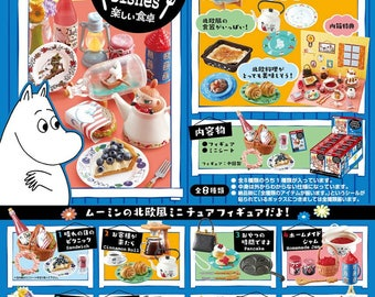 Moomin Homestyle Dishes Complete 8 Box by Re-ment  Mumintrollen Miniatures Figure Collections