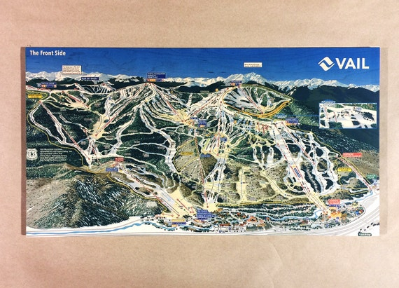 Vail Ski Resort Maple Wood Print