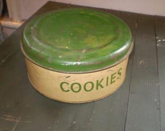 100% Retro,1950's American Cookie Tin,Kitchenalia,Lovely condition