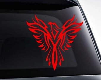 Phoenix bird die cut vinyl decal sticker for car windows, laptops, toolbox, tumblers, wall decals, etc..