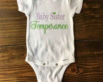 New Baby Onesie, Sibling Onesie, Baby Sister Onesie, Little Sister onesie, Baby girl onesie, baby boy onesie, baby shower gift, big sister
