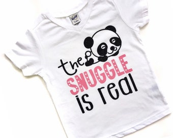 The Snuggle is Real - Panda Shirt - Panda Tshirt  - Zoo Animals - Zoo Birthday - Panda Birthday - Panda