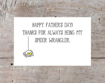 Funny Fathers Day Card, Father's Day Card, Happy Fathers Day, Cards for Fathers, Cards for Dad, Dad Cards, Hilarious Fathers Day, Spider