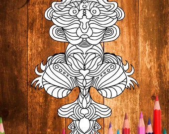 Weirdie 2 #Adult coloring page