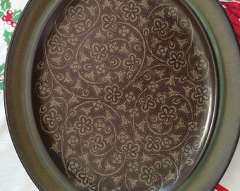 Franciscan Madeira Earthenware Green Floral Stoneware Platter
