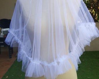 Wedding Veil, Blush Veil, Bridal Veil Chapel Cathedral , Blushing Tulle Veil