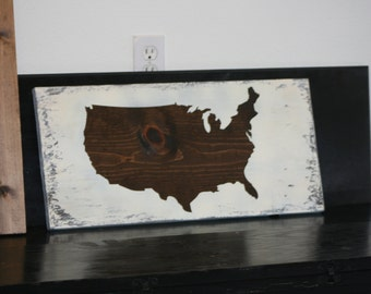 USA MAP on SOLID board