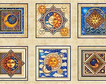Quilting Treasures - Celestrial Sol - Panel - Moon - Stars - Sun