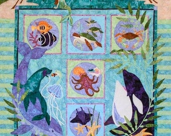 Java House Quilts - Symphony In Sea - Complete BOM Quilt Pattern - Applique - Pattern Only