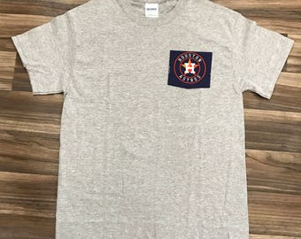 ... mlb houston astros pocket t shirt adult unisex free shipping 96b523212