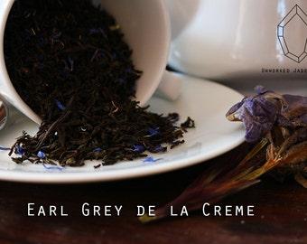 Earl Grey de la Creme, Rustic Artisan Cream Earl Grey Tea, Natural Vanilla and Bergamot Flavored Tea, Tea Lovers Custom Gift. Customizable.