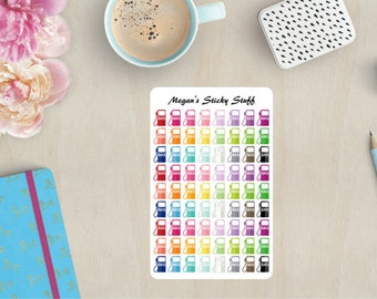 Gas Pumps Functional Planner Stickers