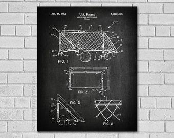 Soccer Poster - Soccer Print - Soccer Gifts - Soccer Decor - Soccer Art, Soccer Wall Art, Soccer Ball, Soccer Wall Decor, Soccer Goal, SS375