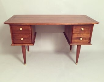 Midcentury Restored Desk walnut finish