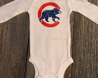Chicago Cubs Themed Onesie Bodysuit