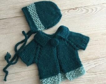 Newborn bonnet, newborn props, newborn hat