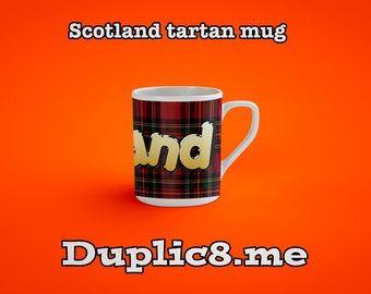 Scottish tartan mug