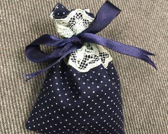 Dainty Lace Lavender Satchel