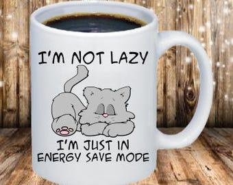 I'm not lazt coffee mugs