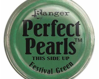 Perfect Pearls Festival Green Pigment Powder - Ranger Perfect Pearls - Festival Green Pigment Powder - Green Perfect Pearls - Pigment Powder