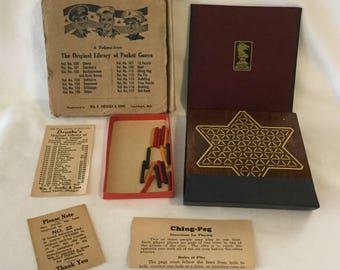 Vintage Druekes Original Pocket Ching Peg (Chinese Checkers) Game Vol 110