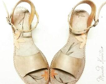 Bridal wedges, jute wedge sandals and bridal fur, vintage touch for bride, wedge Espadrille for Bridge, MoD. Merchelindas