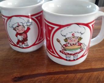 Pair of Campbell's Kids Mugs