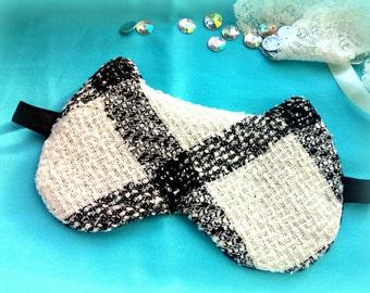 Cat pajama party favor, sleep mask, eye sleep mask ,Sleepwear Lingerie, Kitty night eye pillow,Travel eye blindfold ,Unisex Bridesmaid Gift