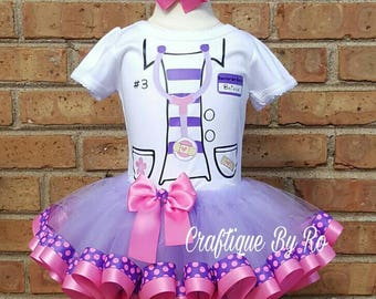 Doc Mcstuffins Tutu Set - Doc Mcstuffins Tutu Set -  Birthday Outfit -  Doc Birthday Outfit - Doc Mcstuffins Outfit