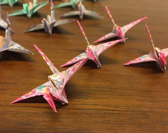 Origami Flapping Cranes