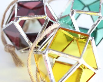 Geode Stained Glass Suncatcher