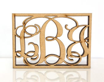 get it fast 3 letter wooden monogram unpainted 2 42 large wooden monogram sale decoration personalized custom wall hanging gift