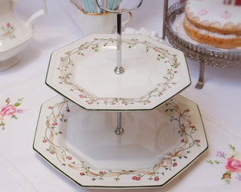 Ribbons and Bows,  2 tier cakestand/ dessert stand/party stand: Eternal bow.