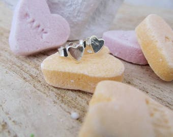 Abstract heart SMALL stud earrings