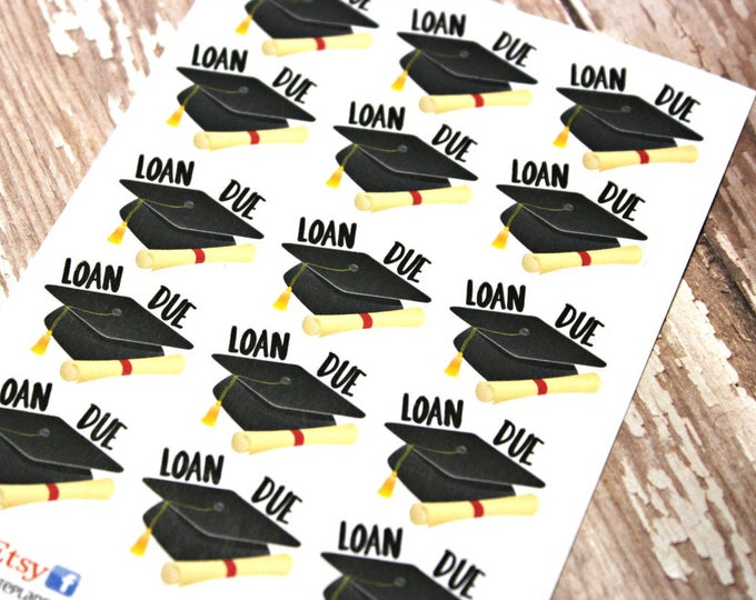 Student Loan Planner stickers - Loan Planner stickers - Loan due stickers - fits Happy Planner - Fits Erin Condren - Student Loan Due