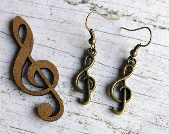 Music Earrings Cleff Score Earrings Silver-plated Musician Earrings Music Jewelry