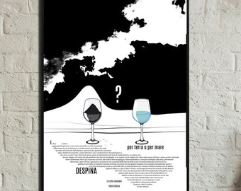 DESPINA Poster. Instant Download. Calvino poster. Wall art. Print art. Modern art. Poster Typography. Digital art. The invisible cities
