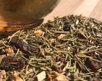 Mary Me Loose Leaf Tea, Rosemary Tea, Stevia, Lemon and Cranberry