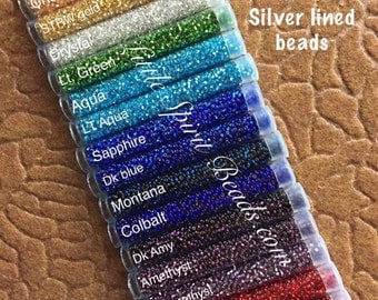 17 pack Preciosa silverlined size 11/0 beads