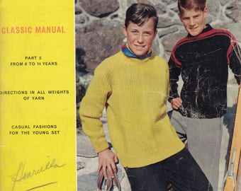 Spinnerin Classic Manual- 1960's  Fashion Knitting Book - Vintage Craft Book