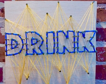 DRINK - String Art