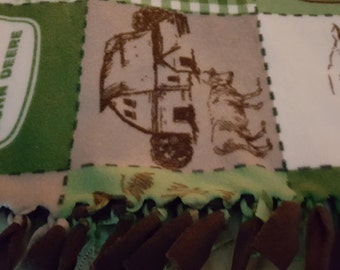John Deere Fleece Tied Blanket